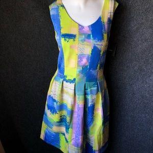 Ellen Tracy watercolor dress NWT